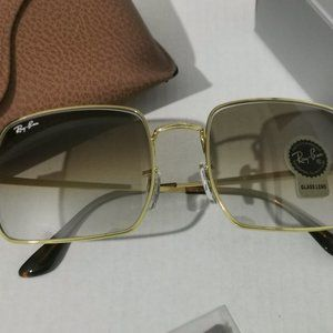 Ray-Ban 1971 Light Brown Lens Square NEW